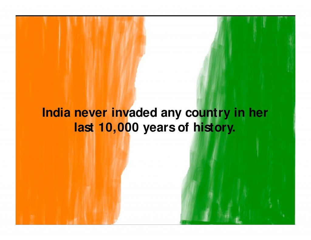 India Never Invaded